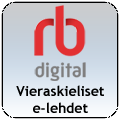 RBdigital - ulkomaiset aikakauslehdet